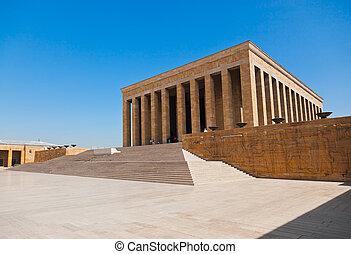 Mustafa Kemal Ataturk mausoleum at Ankara Turkey