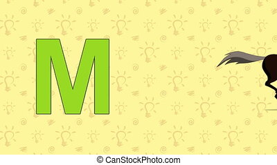 Mustang. English ZOO Alphabet - letter M - Animated English...