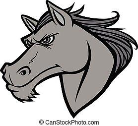 Mustang Head Illustration