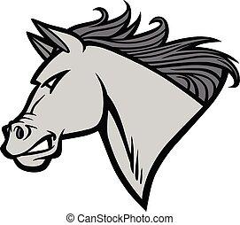 Mustang Mascot Illustration