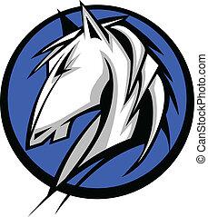 Mustang Stallion Graphic Mascot Vec - Graphic Mascot Vector...