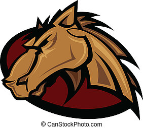 Mustang Stallion Graphic Mascot Vec - Vector Graphic Mascot...