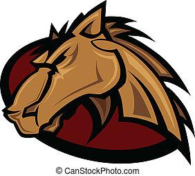 Mustang Stallion Graphic Mascot Vec - Vector Graphic Mascot ...