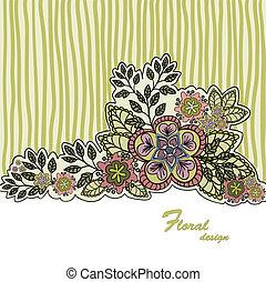Mustard floral background