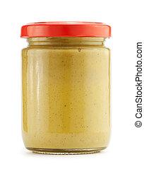 Mustard - Glass jar of mustard