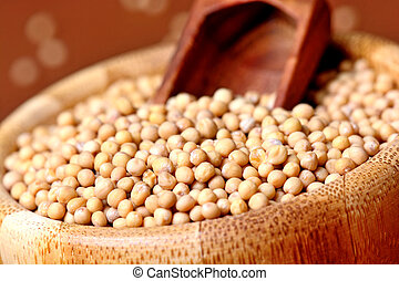Mustard seeds in a bowl