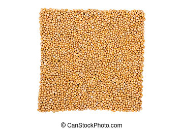 mustard seeds, isolated on white background