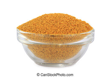 mustard - pile of mustard powder isolated on white...