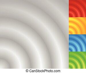 muster, abstrakt, effekt, ubergreifen, circles., verblichen...
