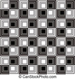 muster, abstrakt, modern, seamless, b&w, illusion