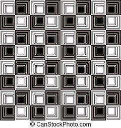muster, abstrakt, modern, seamless, b&w, illusion