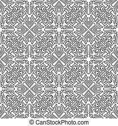 muster, abstrakt, seamless, hand-drawn, ethnisch