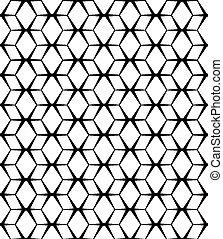 muster, abstrakt, seamless, hintergrund., vektor, schwarz, weißes