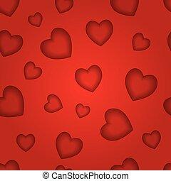 muster, abstrakt, str., seamless, vektor, hearts., hintergrund, valentine's, tag