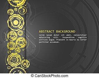 muster, abstrakt, vektor, hintergrund, technologisch