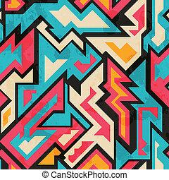 muster, afrikanisch, seamless, gefärbt