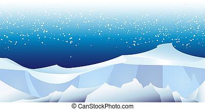 muster, arktisch, landschaftsbild