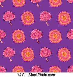 muster, blast-flowers, orange, hintergrund, seamless, wiederholung, blüte, gelber , rosa, lila, bunter