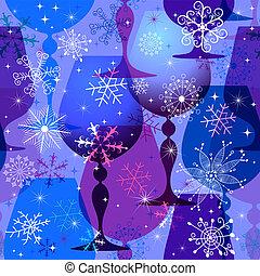 muster, blau-violett, weihnachten, seamless