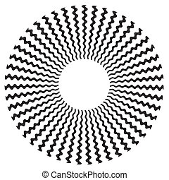 muster- design, spirale, zickzack