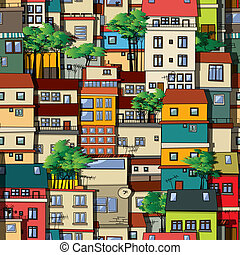 muster, favela, seamless