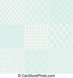 muster, geometrisch, seamless, textured