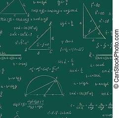 muster, grün, seamless, trigonometrie