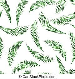 muster, handfläche, seamless, leaves.