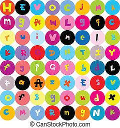 Muster, Kinder, Briefe, hintergrund,  seamless