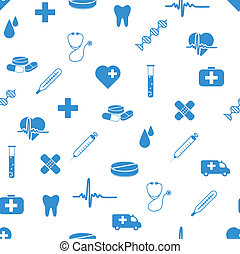 muster, medizin, seamless, heiligenbilder