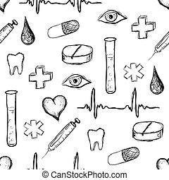 muster, medizin, seamless