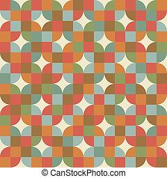 muster, mosaik, style., retro, seamless, fliesenmuster