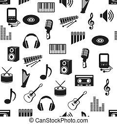 muster, musik, seamless
