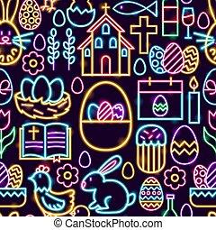 muster, ostern, seamless, glücklich