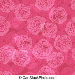 muster, rosafarbene rosen