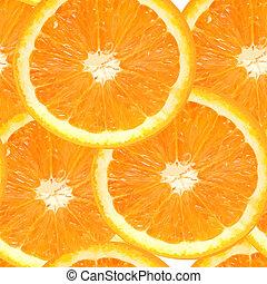 muster, saftig, abbildung, seamless, vektor, hintergrund, orange, frisch