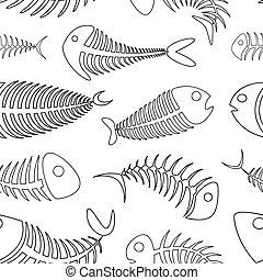 muster, satz, fishbone