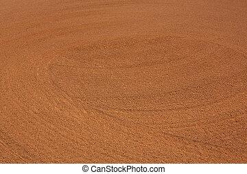 muster, schmutz, innenfeld, baseball