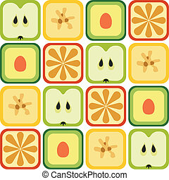 muster, seamless, früchte