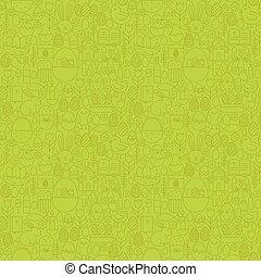 muster, seamless, grün, dünne linie, ostern, glücklich