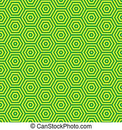 muster, siebziger, grün, retro
