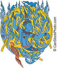 muster, thailändisch, grafik