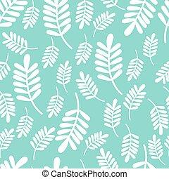 muster, vektor, seamless, abbildung, leaves.