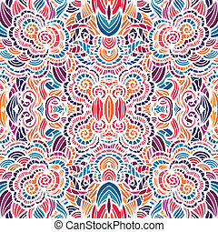 muster, vektor, seamless, mosaik