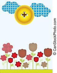 muster, verschieden, schnittblumen