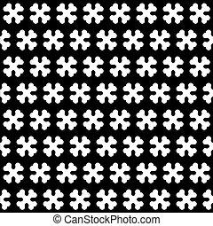 muster, weißes, schwarz, seamless, knochen