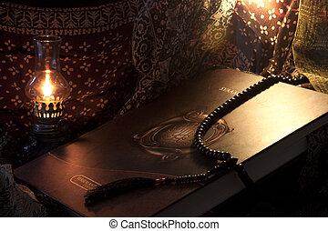 musulmán, libro, santo