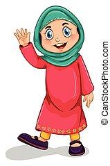 musulmán, niña