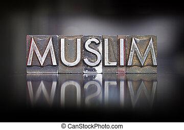 musulmán, texto impreso