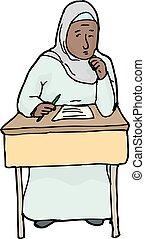 musulman, étudiant, inquiété